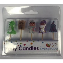 Medieval Character Party Candles - Assorted Characters - Pack of 5