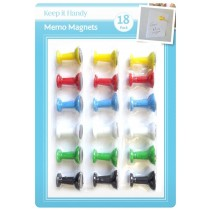 Memo Magnets - Assorted Colours - Pack of 18