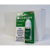 Cloud 9 Premium Quality E-Liquid - Menthol - 18mg - 10ml