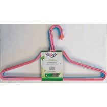 Wings Heavy Duty Metal Hangers - 41cm - Assorted Colours - Pack of 9