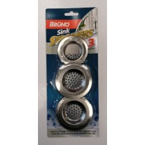 Bruno Metallic Sink Strainer - Pack Of 3 - 2 Sizes
