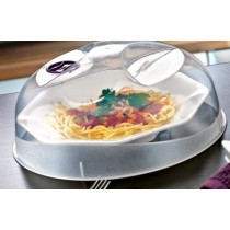 MICROWAVE PLASTIC FOOD COVER WITH VENT - CLEAR