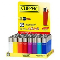 Mini Classic Micro Clipper Super Lighter - Assorted Colours - Pack Of 40