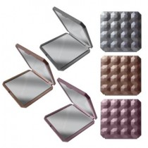 Folding Compact Mirror - 6.5cm x 6.5cm - Assorted Colours - In Display Box
