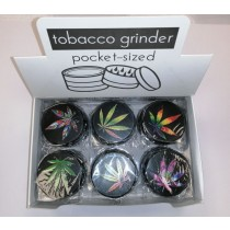 Hand Muller 3 Piece Metal Herb & Tobacco Grinder - Mix Leaf