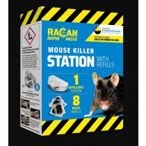 Racan Rapid Paste Mouse Killer Station with Refills - 80g