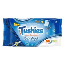 Tushies Premium Plus Moisturising Baby Wipes - 5.5Ph - Pack Of 56