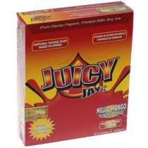 Juicy Jays Mello Mango Flavoured Cigarette Paper King Size Slim  - Pack Of 24 - 32 Leaves Per Pack