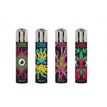 Clipper Classic Large Reusable Lighters - Monster Weed - Assorted Colours & Designs