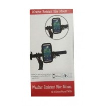 Weather Resistant Mobile Phone Holder Bike Mount for All Mobile Phone Sizes - 5.5""