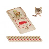Qwik Catch Easy to Use Wooden Mouse Trap - 10 x 4.5cm