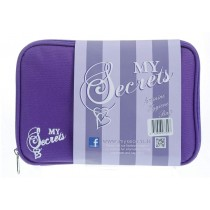 My Secrets Feminine Fashionable Hygiene Zipper Bag - Includes Hand Sanitiser - Purple