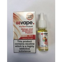 88 Vape Any Tank E Liquid - Mango & Strawberry Passion - 50/50 Pg/Vg - 11Mg - 10Ml
