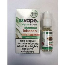 88 Vape Any Tank E Liquid - Menthol Tobacco - 50/50 Pg/Vg - 11Mg - 10Ml