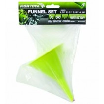 Montoya Tough Plastic Funnel Set - Green - Assorted Size - Pack of 4