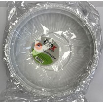 "Max Disposable Plastic Salad Bowl - 10"" - White - Pack of 6"