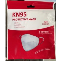 KN95 3D Design 5 Layers Washable Protective Face Mask - White - 0% VAT