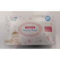 4 My Baby Fragranced Hygienic Nappy Bags With Tie Handles - Pack Of 250