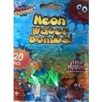 Neon Water Bombs With Filler - Pack of 20