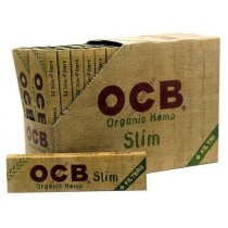 OCB Organic Hemp Unbleached Rolling Papers + Filters - Slim - Pack of 32