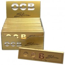 Ocb Gold Premium Slim Rolling Papers - 50 Booklets