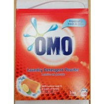 OMO Laundry Detergent Powder with Natural Soap & Lemon - 100 Washes - 5.0Kg
