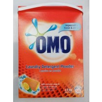 OMO Laundry Detergent Powder with Natural Soap & Lemon - 58 Washes - 2.9Kg