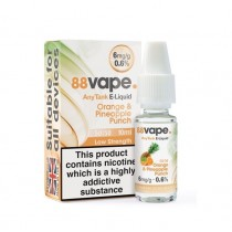 88 Vape Any Tank E Liquid - Orange & Pineapple Punch - 50/50 Pg/Vg - 6Mg - 10Ml