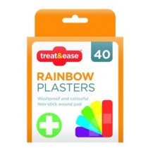 Treat & Ease Rainbow Plasters - Pack Of 40