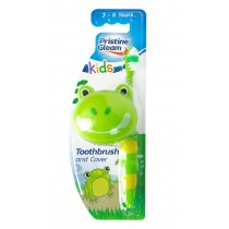 Pristine Gleam Kids Toothbrush with Cover - For Kids Age 3-6 Years