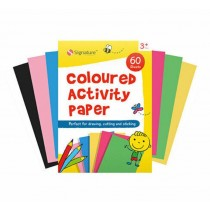 Signature A4 Coloured Activity Paper Pad with 60 Sheets