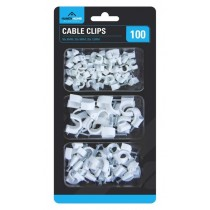 Handy Homes Cable Clips - Assorted Sizes & Quantity - Pack of 100