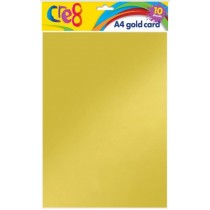Cre8 A4 Gold Card - Pack of 10