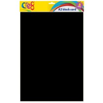 Cre8 A3 Black Cards/Sheets - Pack of 8