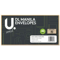 U Send DL Manila Envelopes - 80GSM - Pack of 40