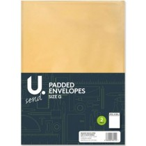 U Send Padded Envelopes - Size G - 33.5cm x 24cm - Pack of 2