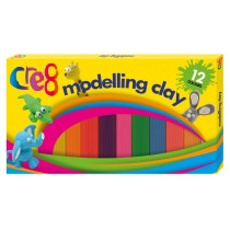 Cre8 Modelling Clay - 12 Assorted Colours
