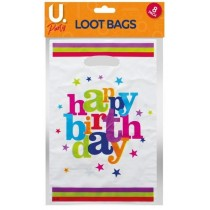 U Party Happy Birthday Loot Bags - Pack of 8