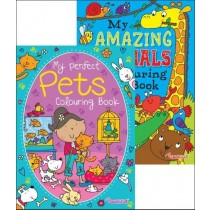 Amazing Animals/Perfect Pets Colouring Book - Assorted - 27 x 19.5cm - 0% VAT