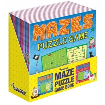 Mazes Puzzle Game Books - Assorted Designs - 21 x 21cm