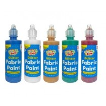 Creator Zone - Glitter Fabric Paint - Assorted Colours - 118ml - For Ages 3+