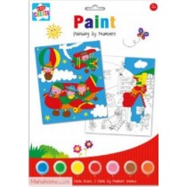 Painting By Numbers With 7 Paints, 1 Paint Brush 2 Paint By Number Sheets