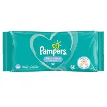 Pampers Fresh Clean Baby Wipes - Baby Scent - Dermatologically Tested - Pack of 52 - Exp: 06/23