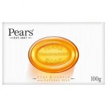 Pears Transparent Soap - Pure & Gentle with Natural Oils - Dermatologically Tested - 100Grams