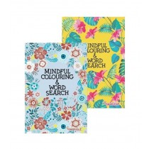 A5 Mindful Colouring & Word Search Book 1 & 2 - Assorted Designs