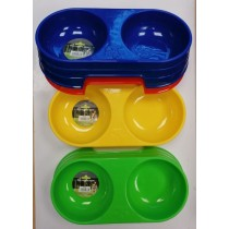 Pets That Play Dog Feeding Bowl - Assorted Colours - 30 x 16 x 7cm