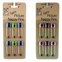 Picture Nappy Pins - Pack Of 6