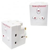 Pifco 3 Way Switched Adaptor with Surge Protection