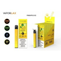 VaporLax Mate Disposable Vape Device - Pineapple Ice - 20mg - 2ml - 800 Puffs