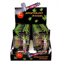 Reggae Jamaica Large Metal Tobacco Smoking Pipes with 5 Pipe Screens - 12.5cm - Assorted Colours